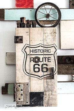 Pochoir Route 66 Large
