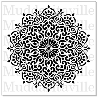 Pochoir Mandala Décoratif small M0156