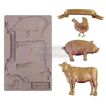 Moule silicone 'Farm Animals', redesign