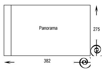book size panorama