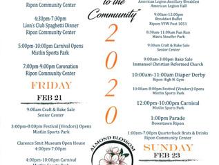 Almond Blossom Festival 2/20-2/23 info.