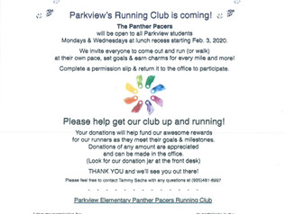 Park View's Running Club is coming!