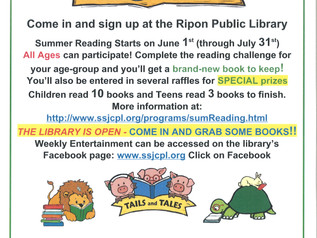 Ripon Library  - TAILS and TALES Summer Reading 2021