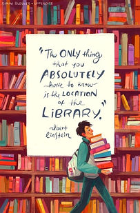 Best-quotes-about-libraries-Albert-Einst