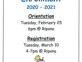 Kinder/TK Enrollment 2020-2021