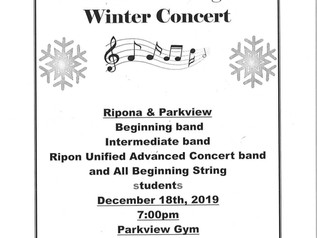 Band & Strings Winter Concert - 12/18/19
