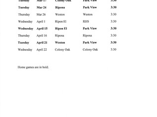 Park View Girls' Soccer Schedule 2020