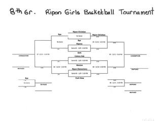 Girls Basketball Tournament Schedule 8th Grade