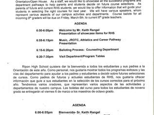 RHS - 8th Grade Parent Information Night 2/26/20