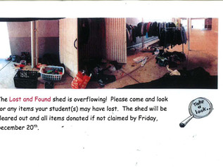 Please pick up your Lost and Found