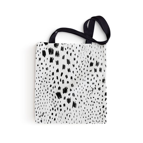Black Spots Tote Bag