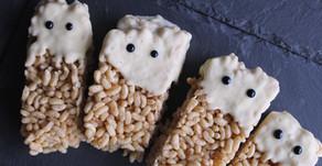 Rice Krispy Ghost Bars