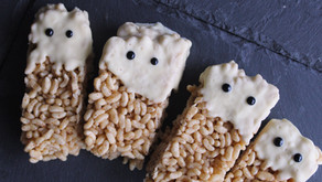 Rice Krispy Ghost Bars