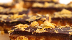 Chocolate Caramel Cornflake Bars