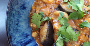 Aubergine, Coconut and Cashew Curry