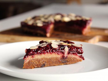 RECIPE: Raw Cherry Bakewell Tart
