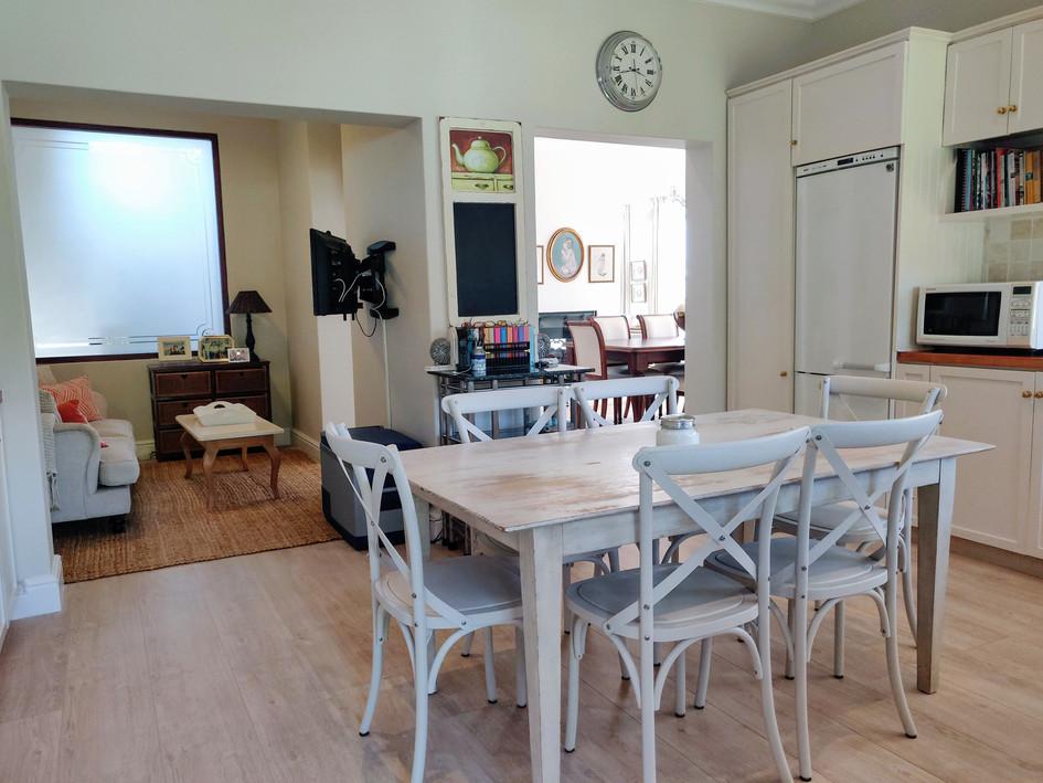 Open-plan TV room & Kitchen