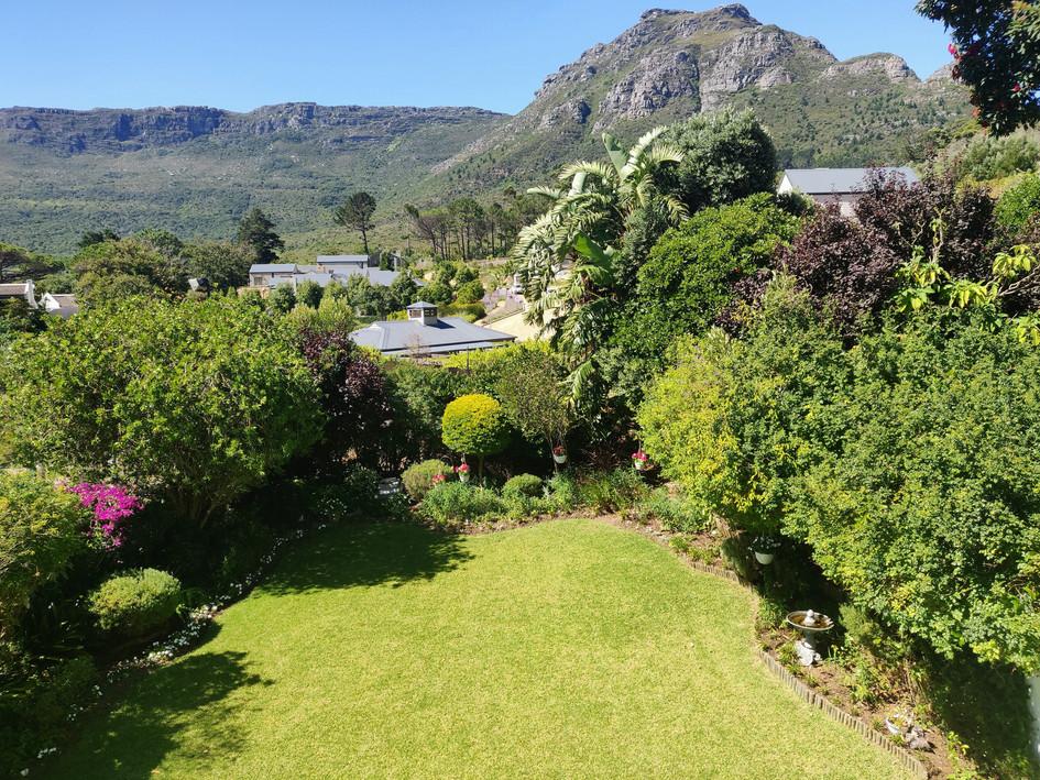 Mountain & Garden Views from Master Bedroom Balcony