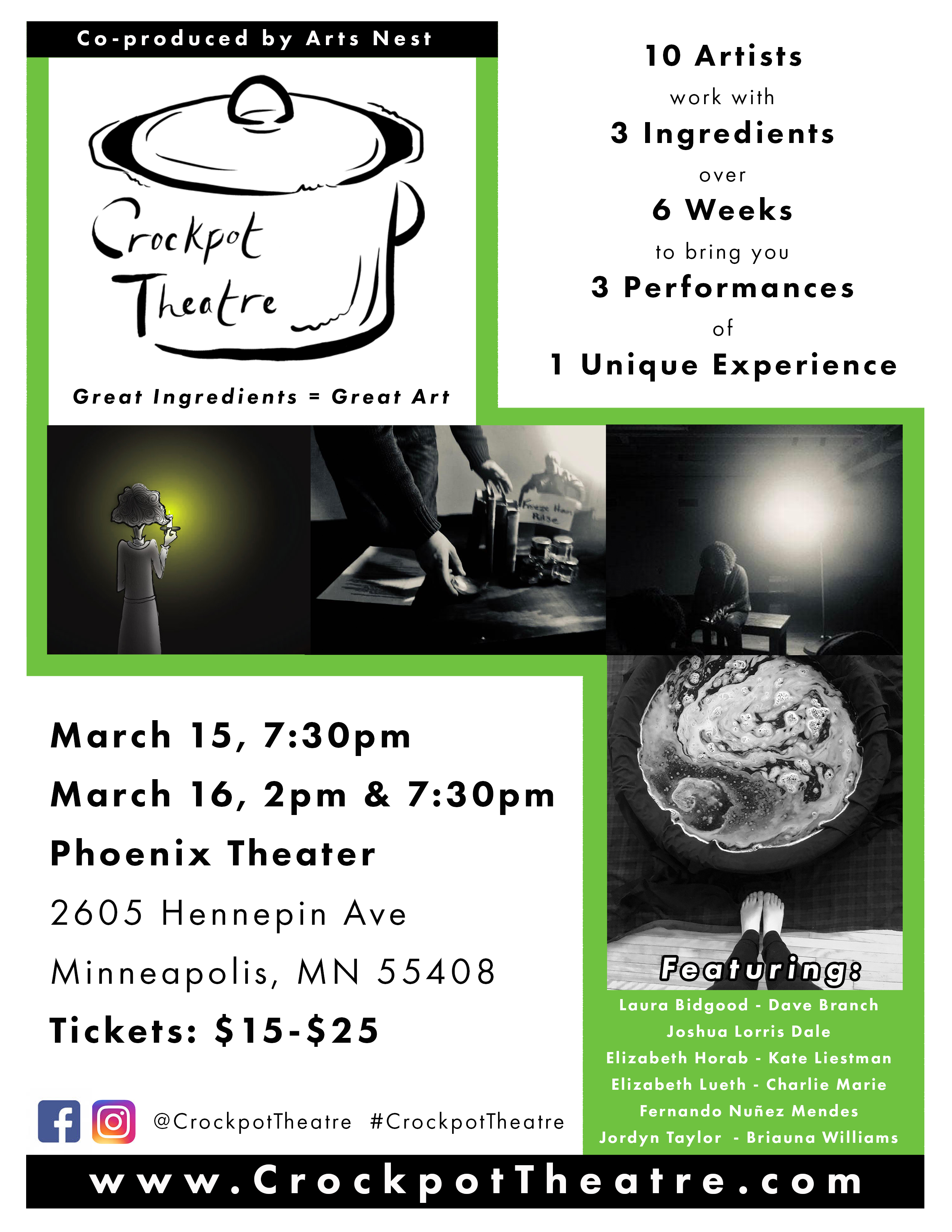 Crockpot Theatre Spring 2019 Flyer