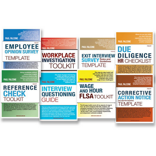 Paul Falcone Human Resources Templates