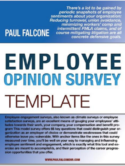 Employee Opinion Survey Template
