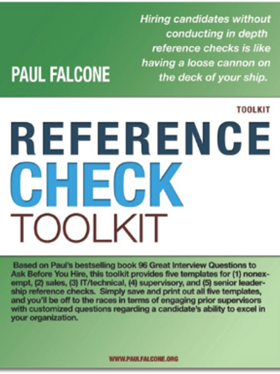 Reference Check Toolkit