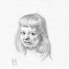 "Porträt Mädchen ""Ekel"""