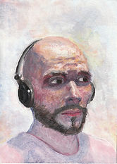 Selbstporträt Acryl
