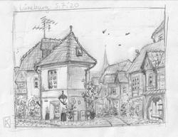 Lueneburg_Altstadt_sketch