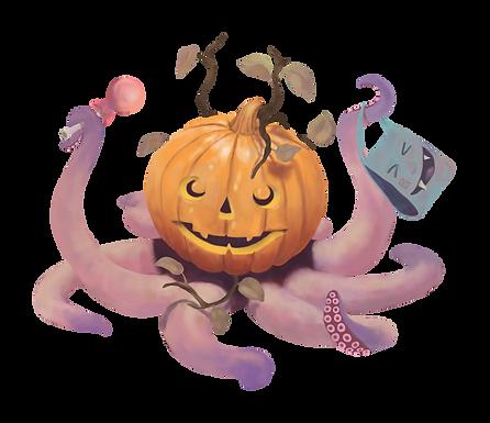 Halloween Oktopus