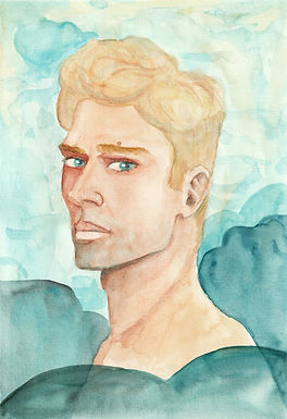 Porträt in Aquarelle, 2021
