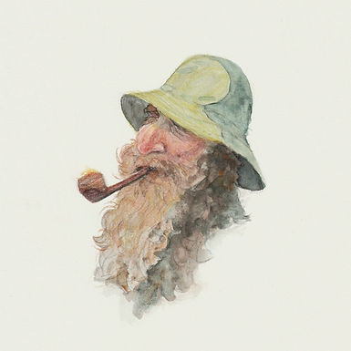 """""""Old man w pipe"""" 2021"""