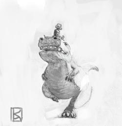 Dino racer sketch