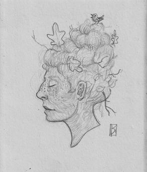 Skizze Herbstfee