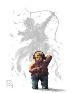 gamer elf warrior