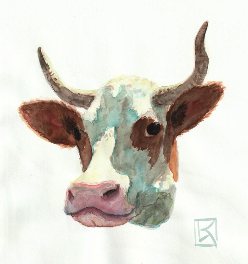 Porträt Kuh