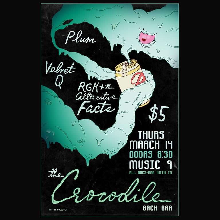 RGK+, Velvet Q, Plum @ Crocodile Back Bar