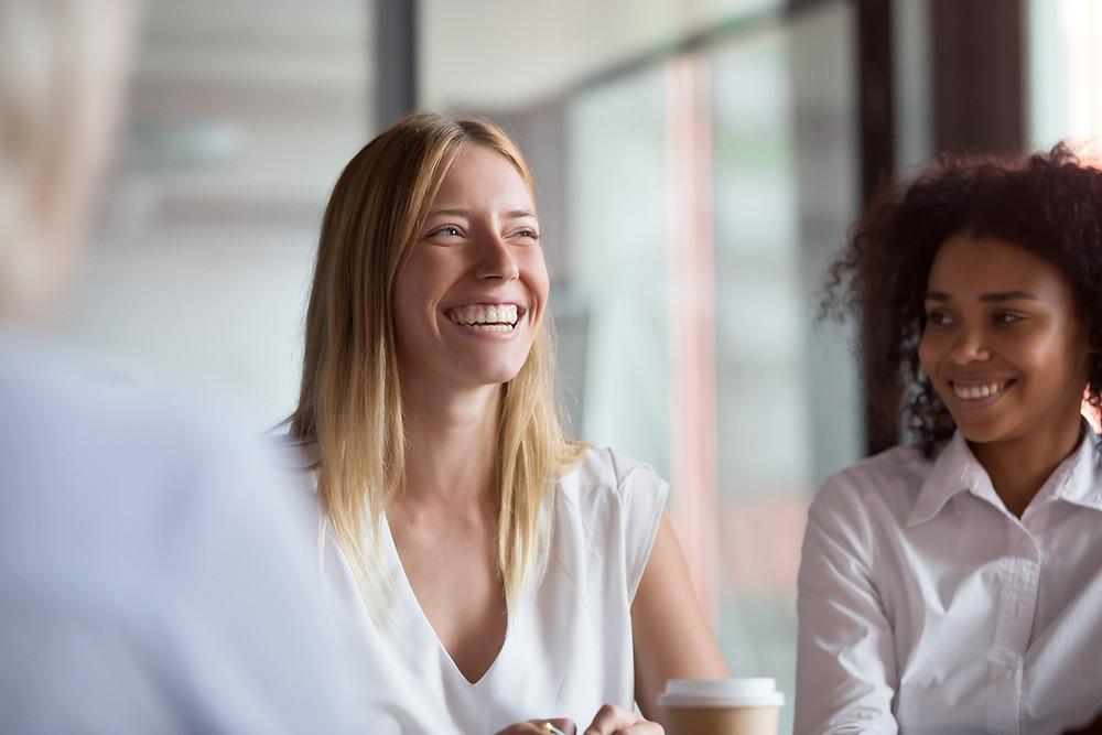 happy at work, black woman, professional women,