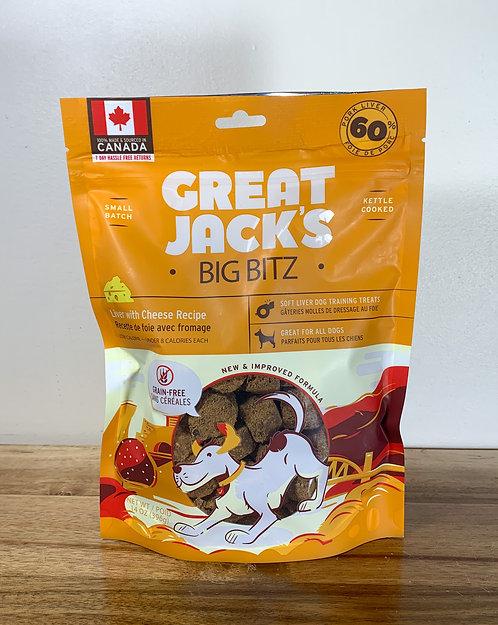 CANADIAN JERKY- Great jack's BIG BITZ/ fromage et foie