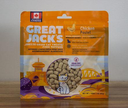 CANADIAN JERKY- Great Jack's gâteries pour chat lyophilisées poulet