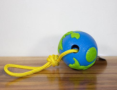 PLANET DOG- Balle planète avec corde/ Large