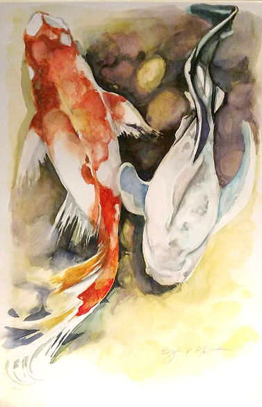 coy_fish_water_color_by_bryanmount-d9meo