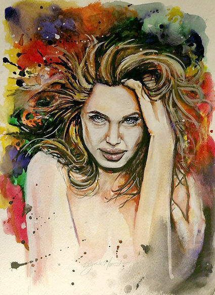 angelina_water_color_by_bryanmount-d9meo