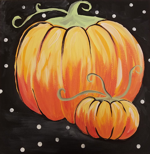 Paint Pumpkins in Acrylics