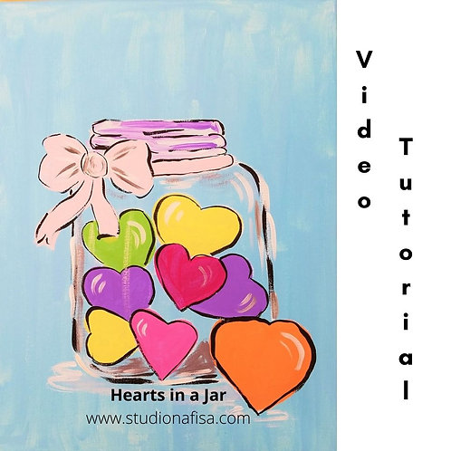Hearts in a Jar - Acrylic Painting Tutorial