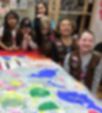 Girl Scout Badge, Girl Scout Painting Badge