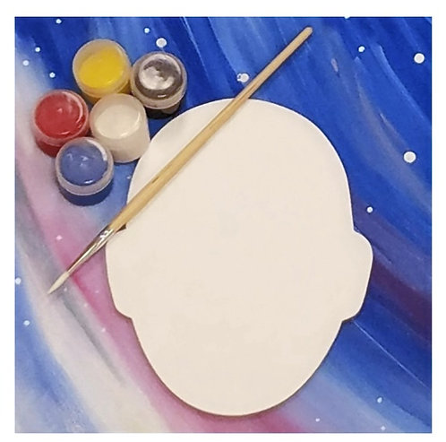 Shaped Canvas Painting Kit - Face