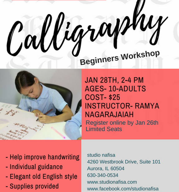 Beginners Calligraphy class
