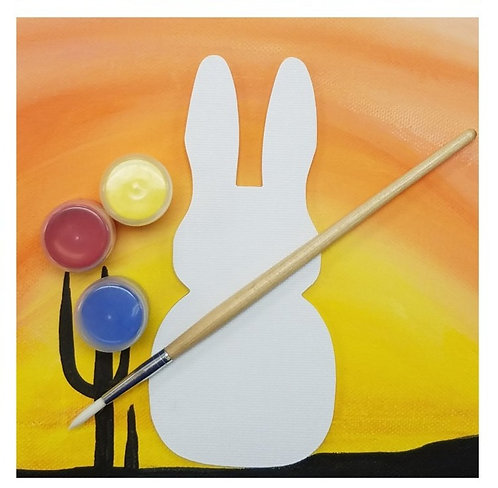 Shaped Canvas Painting Kit - Bunny