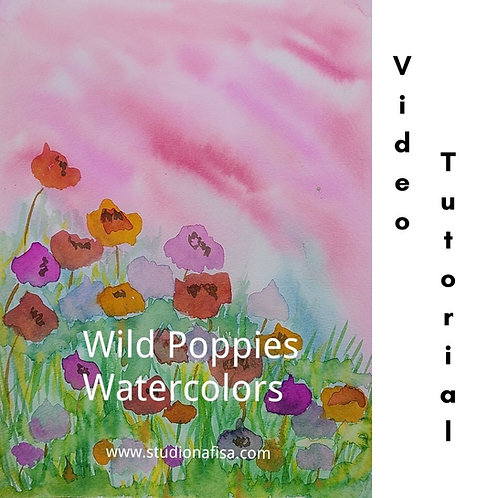 Wild Poppies - Watercolors Painting Tutorial